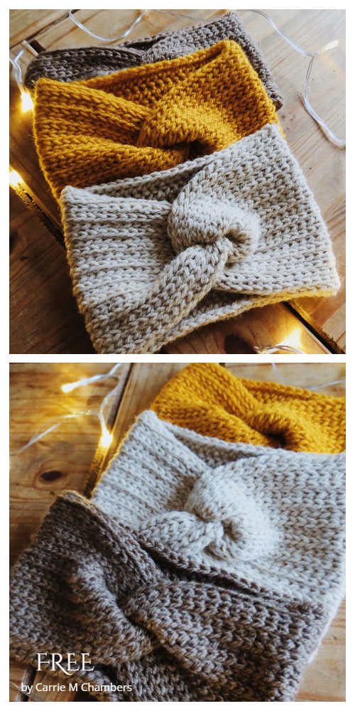 Knit Look Twisted Ear Warmer Free Crochet Pattern