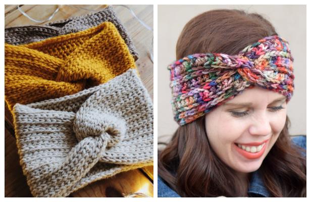 Twisted Ear Warmer Free Crochet Patterns