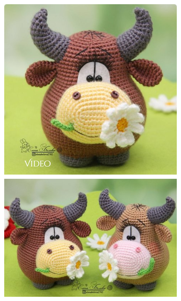 Amigurumi Y2021 Bull Toy Free Crochet Patterns