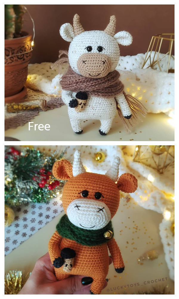 Amigurumi Willy the Bull  Free Crochet Patterns