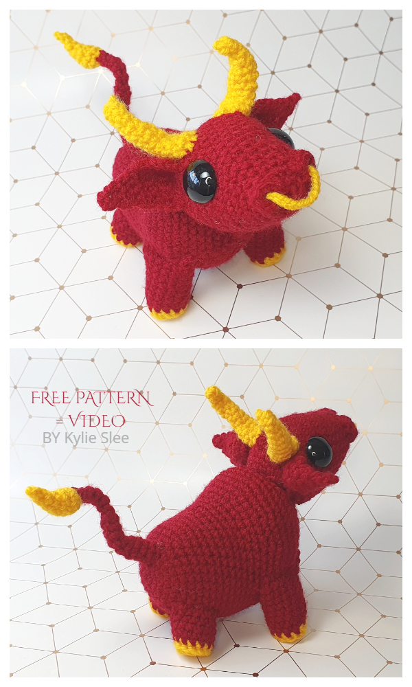 Amigurumi Chinese Zodiac Ox Free Crochet Pattern Video tutorial