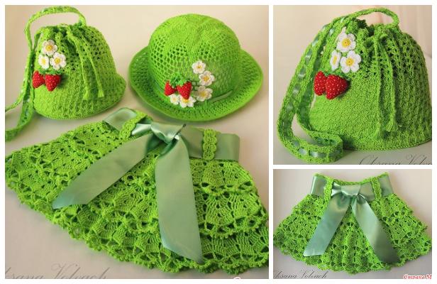 Girl's Skirt & Hat Set Free Crochet Pattern