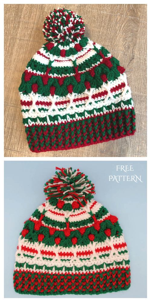 Ugly Christmas Sweater Beanie Free Crochet Patterns