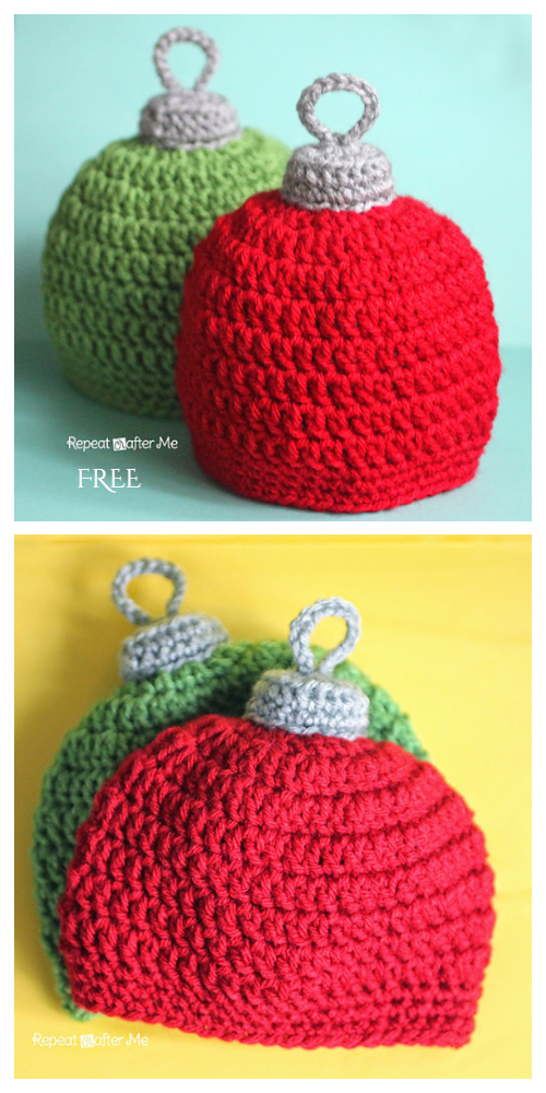 Christmas Ornament Hat Free Crochet Patterns