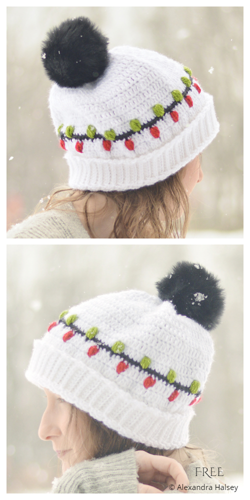Christmas Vacation Beanie Free Crochet Patterns