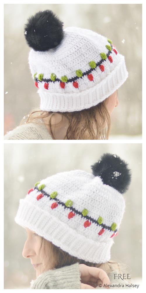 Christmas Beanie Hat Crochet Free Patterns