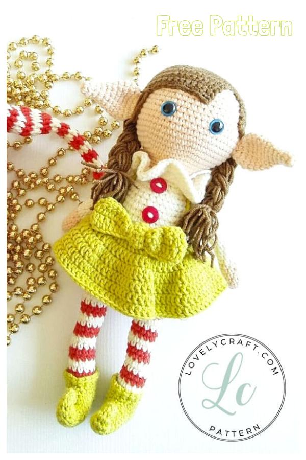 Christmas Crochet Elf Berry Doll Amigurumi Free Patterns