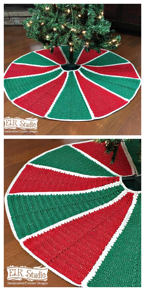 Emory's Christmas Tree Skirt Free Crochet Pattern