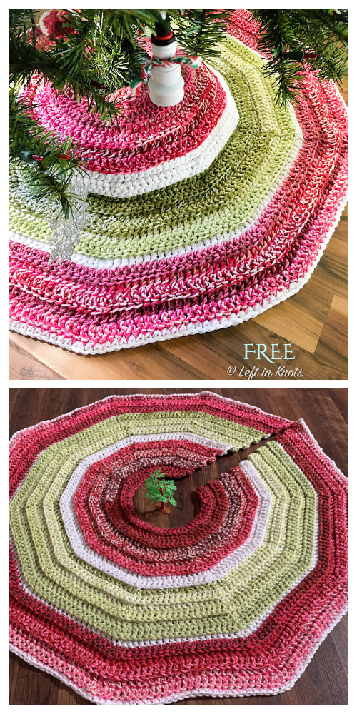Holly Jolly Christmas Tree Skirt Free Crochet Pattern