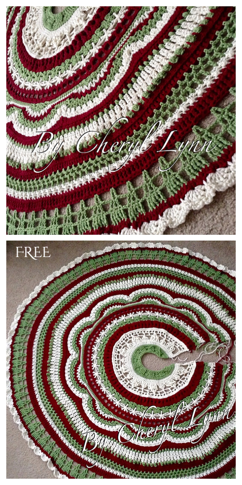 Holiday of Change Christmas Tree Skirt Free Crochet Pattern