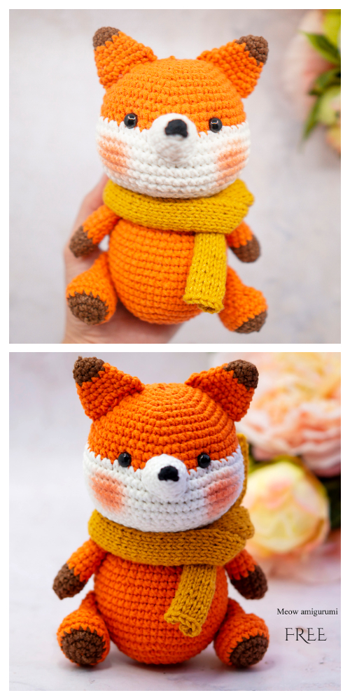 Crochet Rika the fox Amigurumi Free Patterns