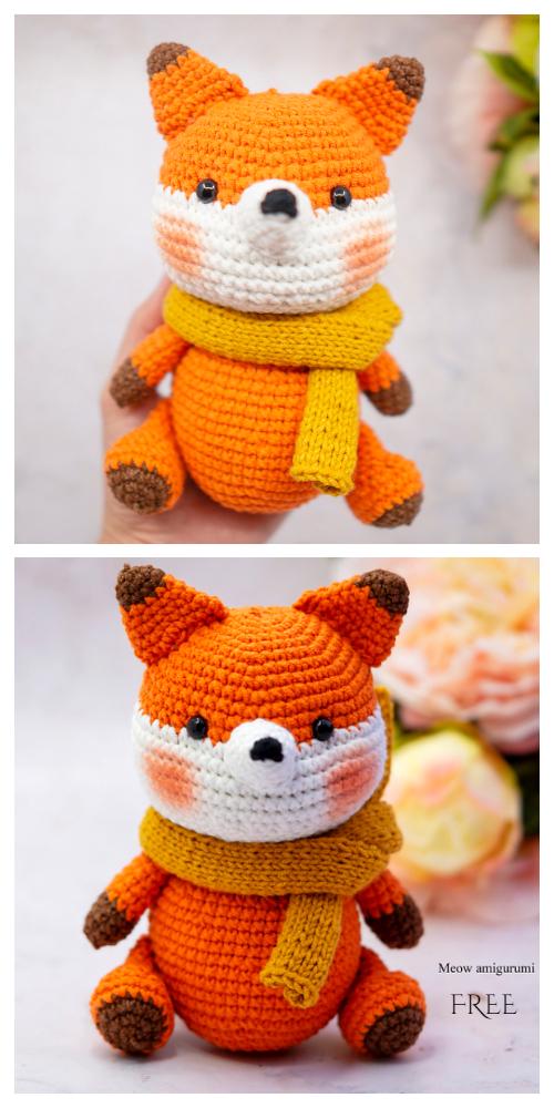 Crochet Rika the foxAmigurumi Free Patterns