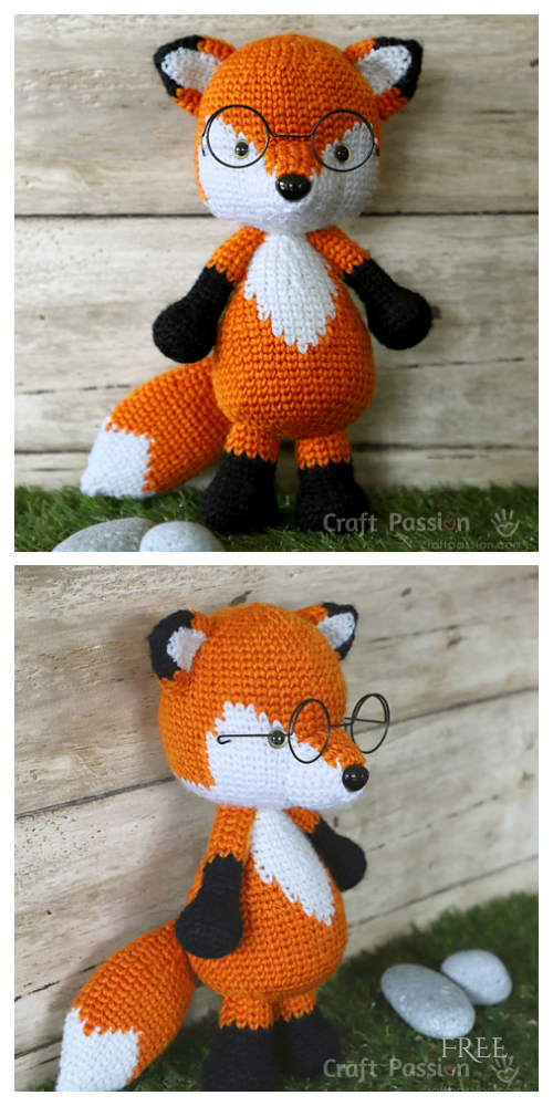 Crochet Mr Furu the Fox Amigurumi Free Patterns