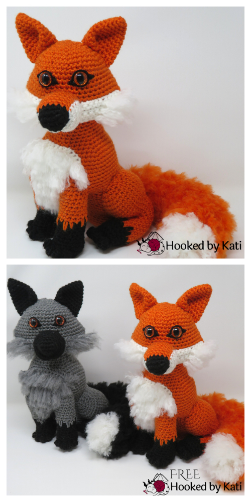 Crochet Clark the Fox Amigurumi Free Patterns