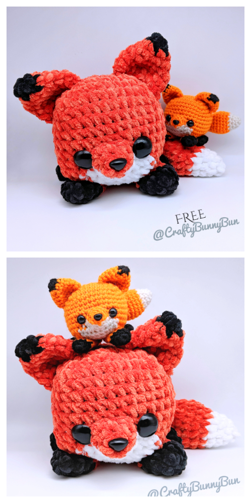 Crochet Cube Foxy Fox Amigurumi Free Patterns