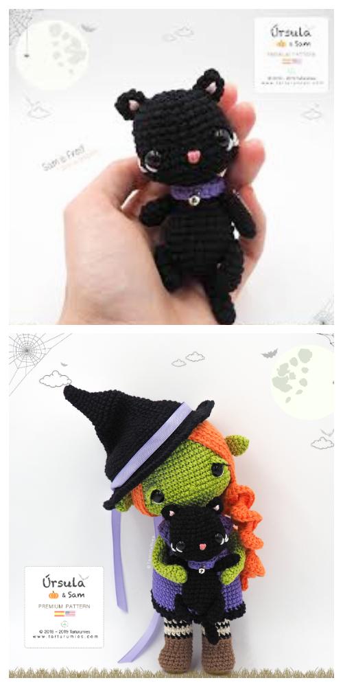 Crochet Halloween Sami Black CatAmigurumi Free Pattern