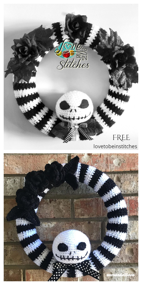 Crochet Jack Skellington Wreath Amigurumi Free Patterns