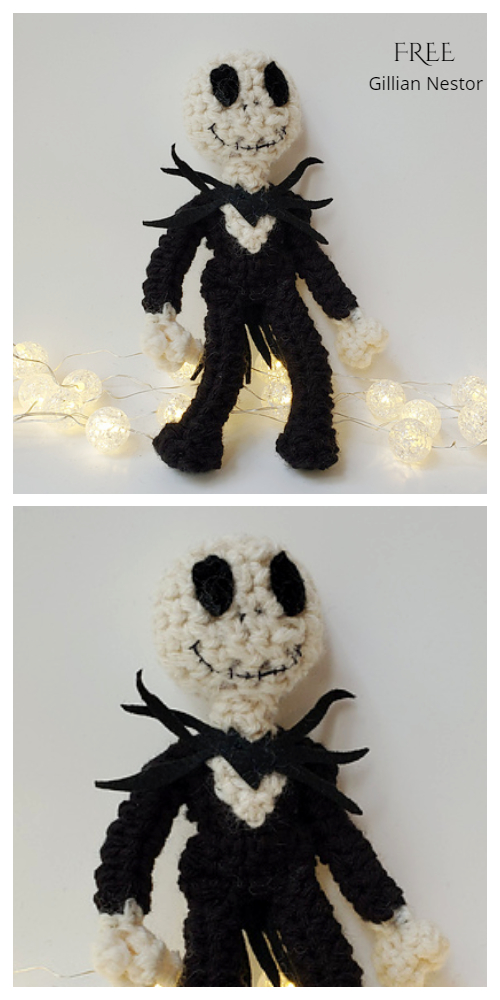 Crochet Jack Skellington Amigurumi Free Patterns