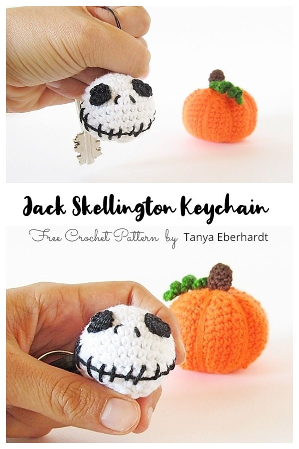 Crochet Jack Skellington Keychain Amigurumi Free Patterns