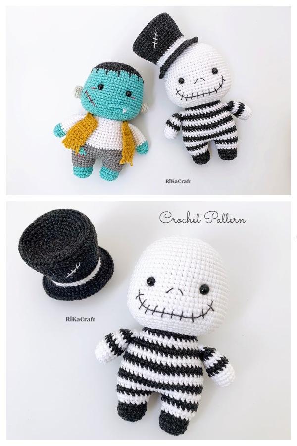 Crochet Jack Skellington Amigurumi Free Patterns