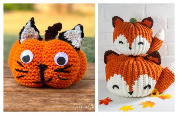 Crochet Fox Pumpkin Critters Amigurumi Free Patterns