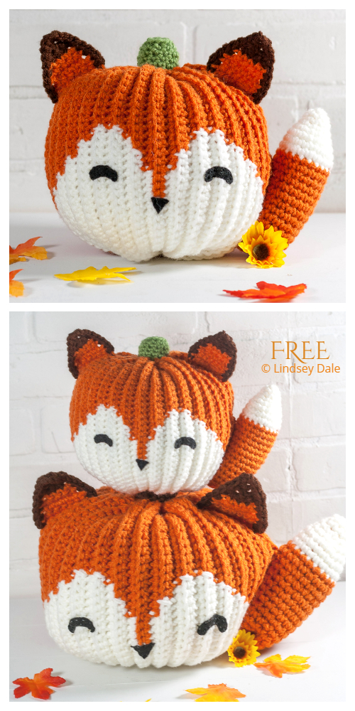 Crochet Fox Pumpkin Critters Amigurumi Free Patterns