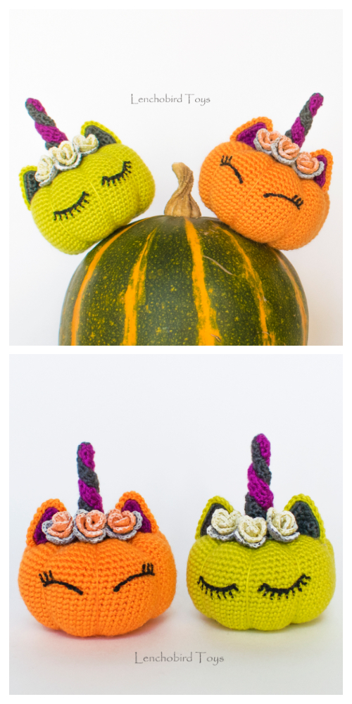 Crochet Unicorn Pumpkin Critters Amigurumi Patterns