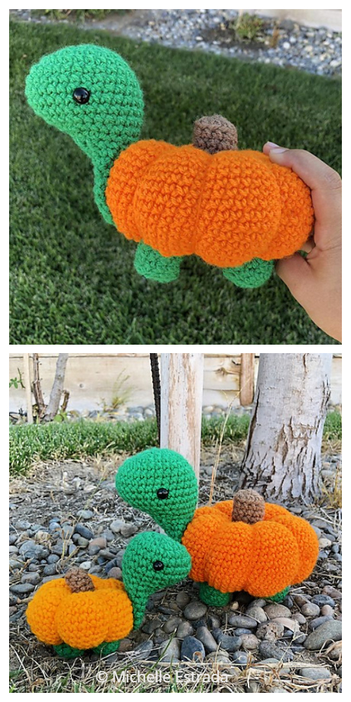 Crochet Pumpkin Turtle Critters Amigurumi Patterns