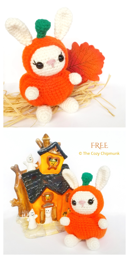Crochet Pumpkin Bunny Critters Amigurumi Free Patterns