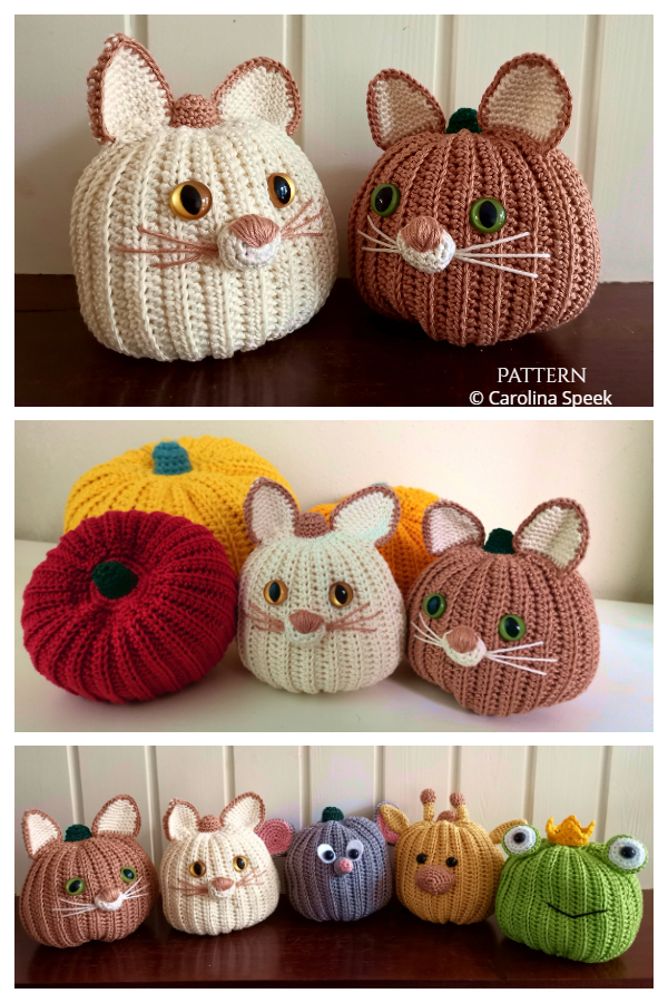 Cat Pumpkin Pals Crochet Pattern