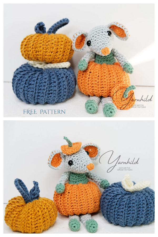 Pumpkin Mouse Free Crochet Pattern