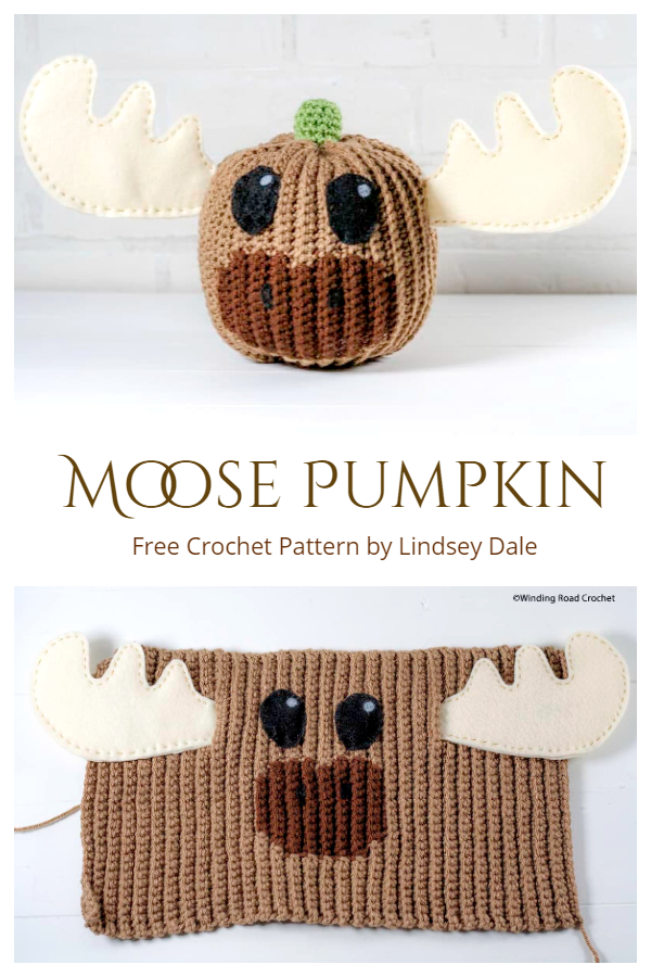 Moose Pumpkin Free Crochet Pattern