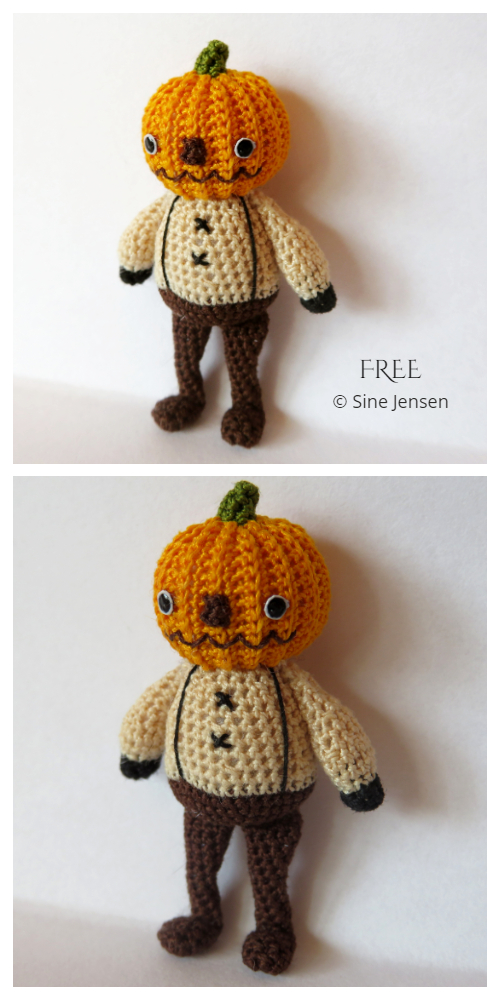 Crochet Pieter the Pumpkin Doll Amigurumi Patterns