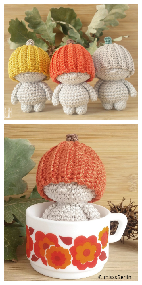 Crochet The pumpkin Dude Doll Amigurumi Patterns