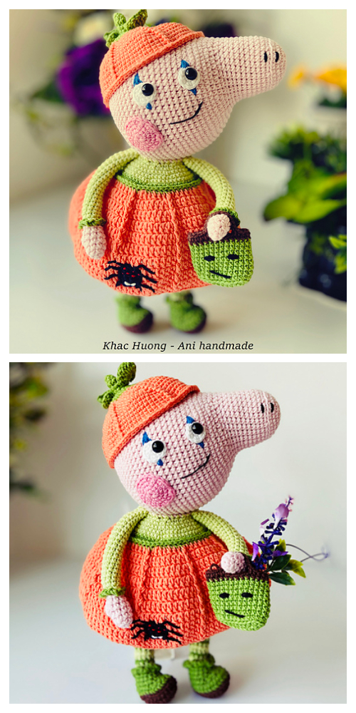 Crochet Peppa Pig Pumpkin Doll Amigurumi Patterns