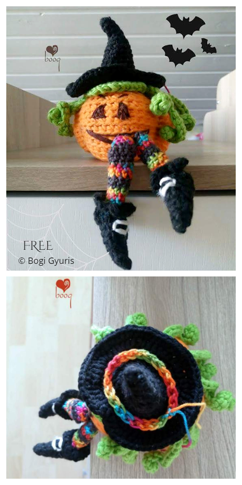 Crochet Witches pumpkin Doll Amigurumi Patterns