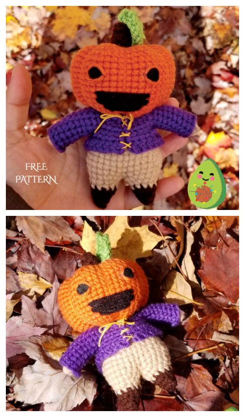 Crochet Pumpkin Star Doll Amigurumi Free Pattern