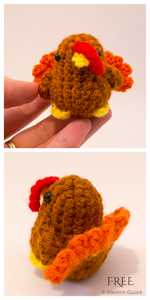 Crochet Tiny Tom Turkey Amigurumi Free Patterns