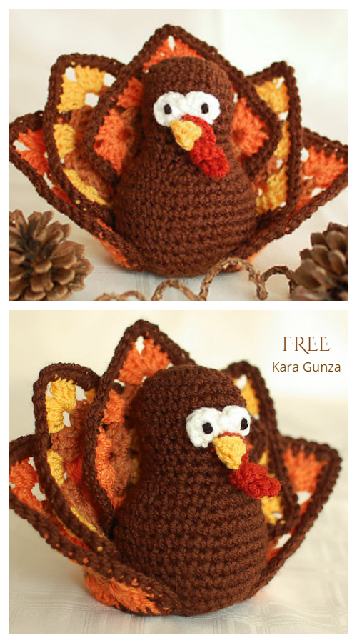 Crochet Thanksgiving Turkey Amigurumi Free Patterns