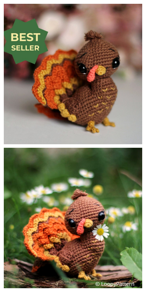 Crochet Thanksgiving Baby Turkey Amigurumi Patterns