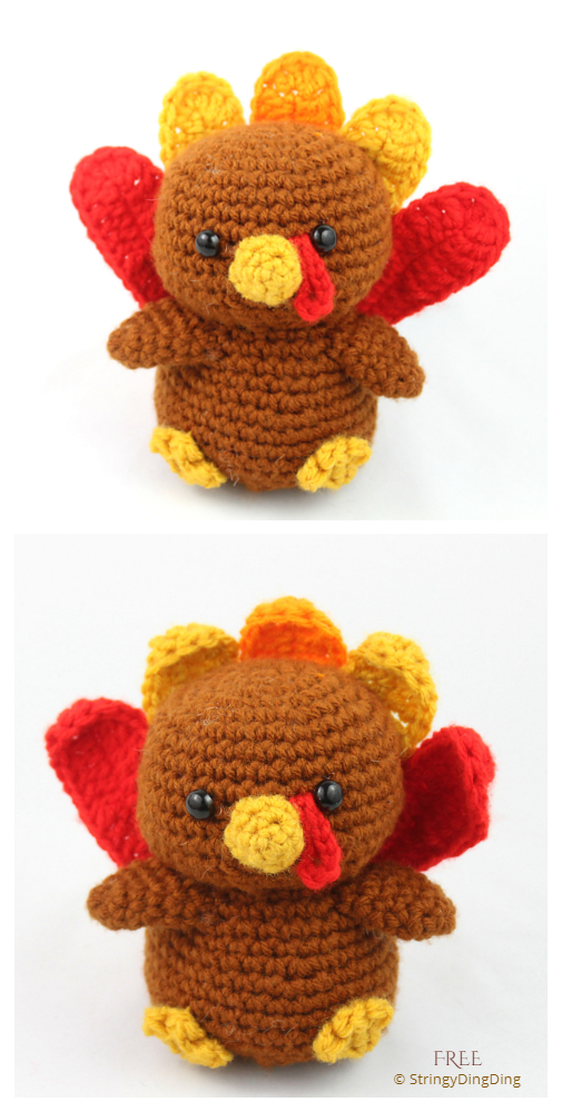 Crochet Turkey Amigurumi Free Patterns