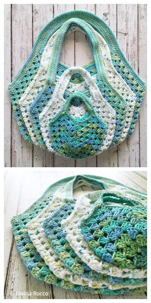 Granny Rocco Bags Crochet Pattern