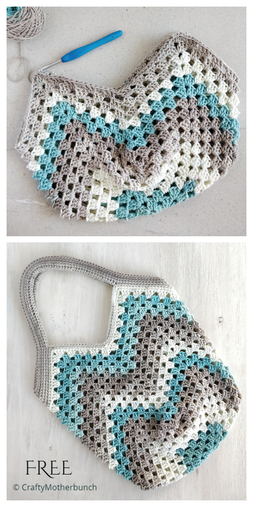 Granny Stitch Bag Free Crochet Pattern Video
