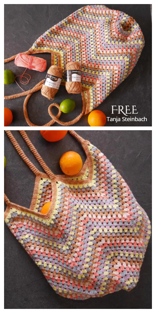 Bag in Grannystyle Free Crochet Pattern