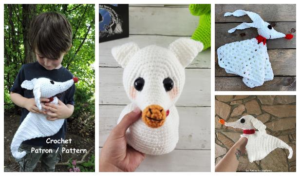 Crochet Zero Ghost Dog Amigurumi Free Patterns & Paid
