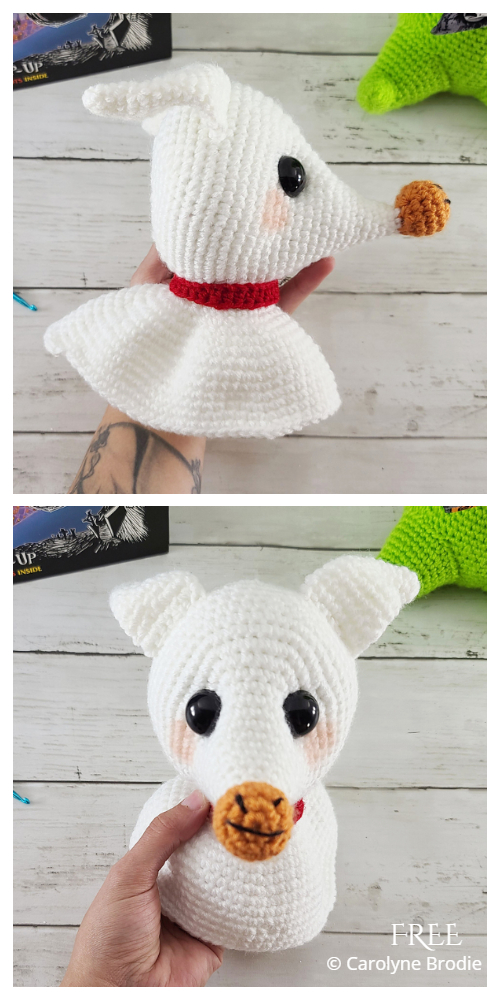 Halloween Crochet Zero Ghost Dog Amigurumi Free Patterns