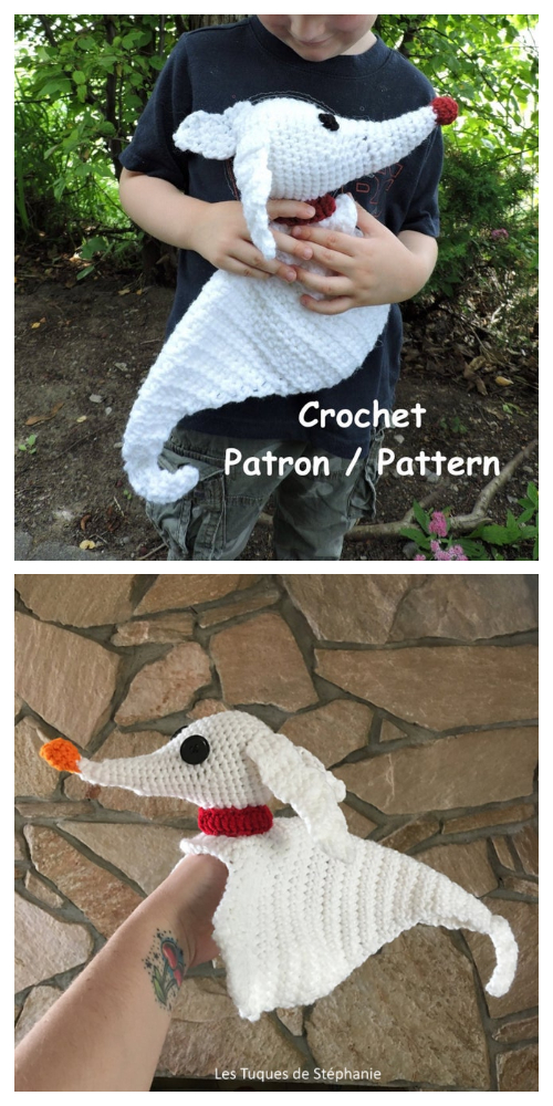 Zero the Ghost Dog Crochet  Patterns