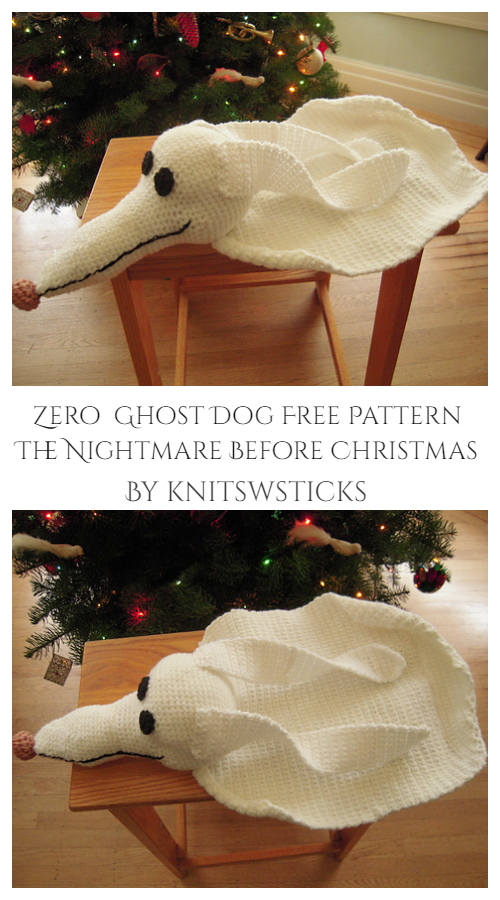 Zero from The Nightmare Before Christmas Free Crochet Patterns