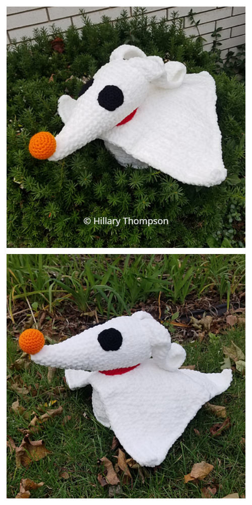 Zero Ghost Dog Crochet  Patterns