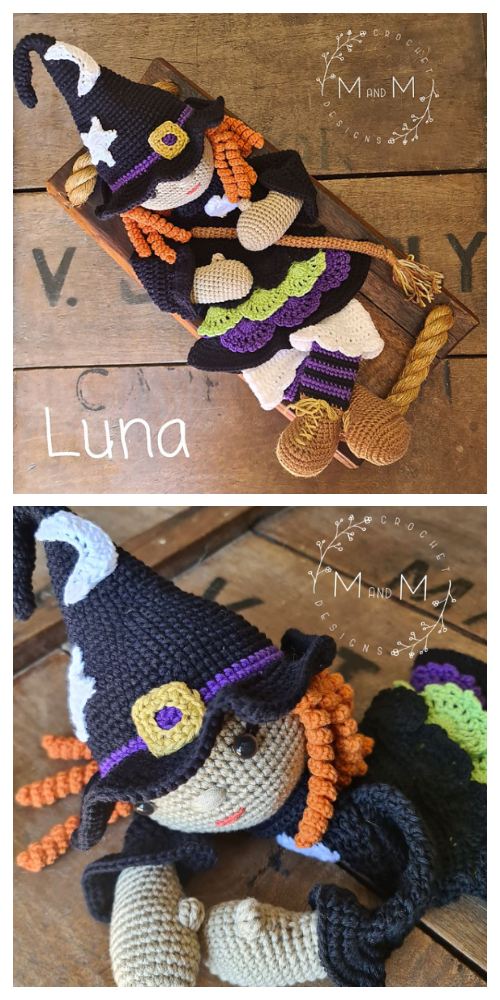 Crochet Melly Teddy Ragdoll Witch Amigurumi Free Pattern